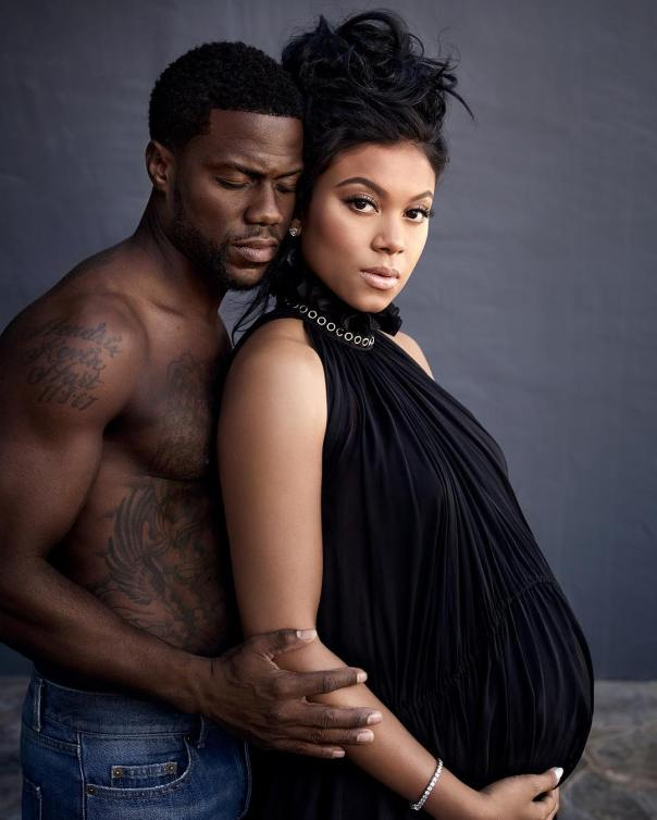 Kevin Hart Shirtless Maternity Photoshoot With Wife Eniko (2)