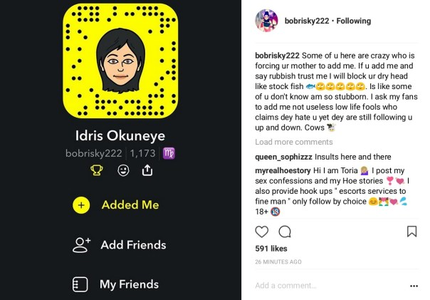 Bobrisky Warns He Is Not Afraid Of The Police And will Continue To Trend (3)