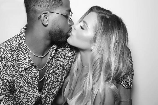 Khloe Kardashian Plants A Kiss On Tristan Thompson (2)