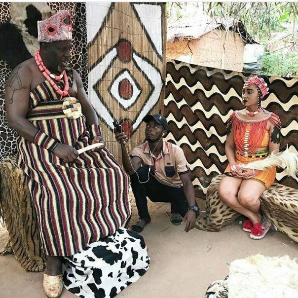 Rosy Meurer Pictured Alongside Walter Anga With Ejike Asiegbu And Rita Daniels On Set Twisted The Movie (5)