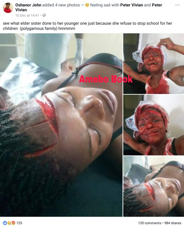 Lady Stabbed Her Younger Sister Because She Refused To Drop Out Of School In Delta State (2)
