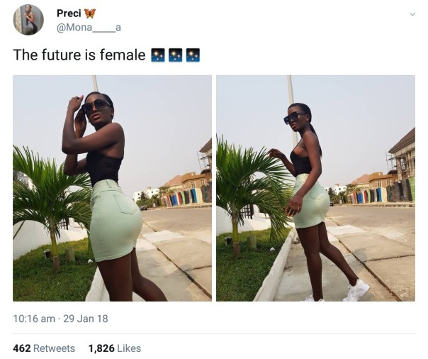 After Sharing Hot Photos On Twitter Nigerian Lady Snubbed (2)