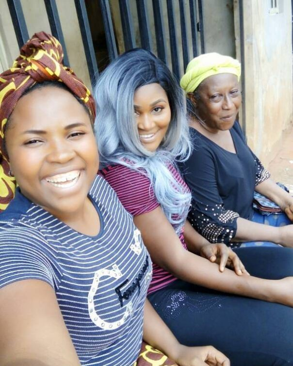 Patience Ozokwor Poses With Chizzy Alichi On Set BACK FROM LAGOS (2)