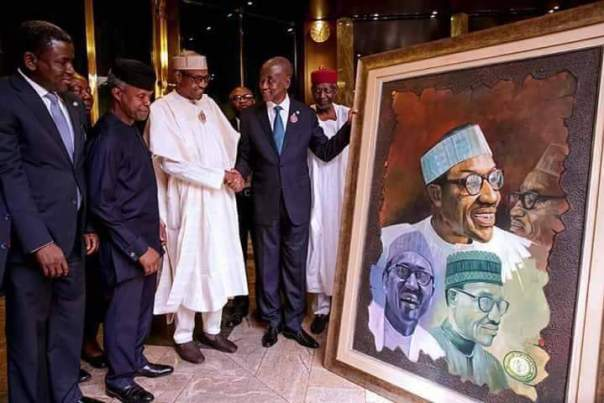 Man Drags The Nigerian Bar Association To Court For Presenting His Artwork To Buhari Without His Authorization After They Had Initially Said The President Won't Receive Such (2)