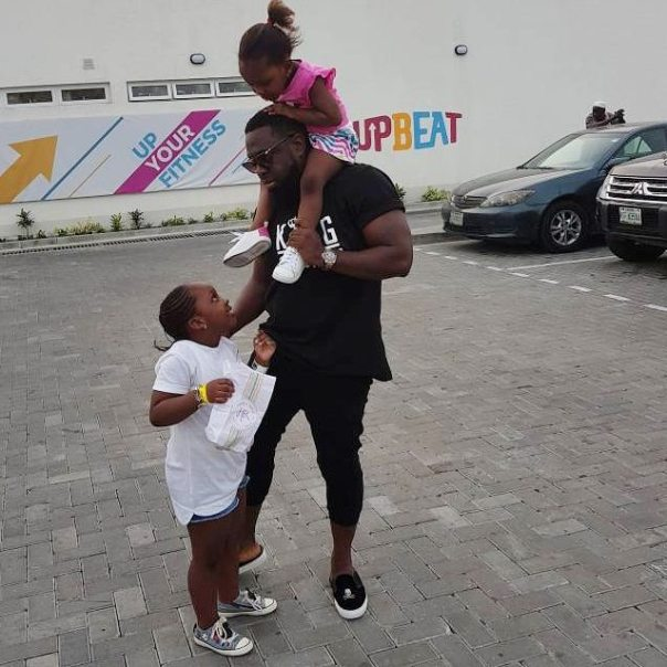 Timaya Pictured On Day Out With His Daughters