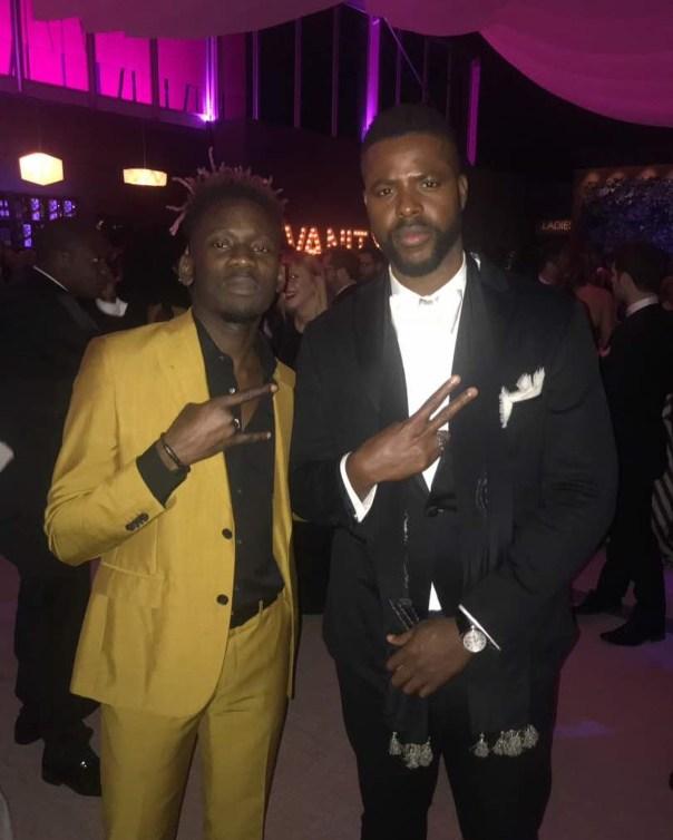 Mr Eazi Poses With Vanity Fair Oscar Party 2018