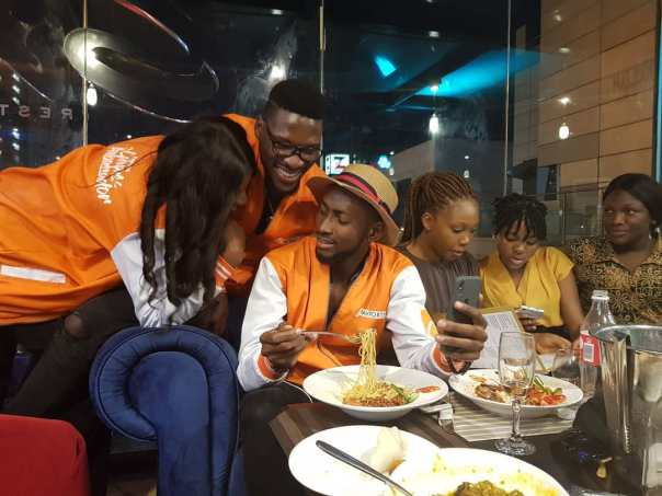 Tobi And Cee-C Reconcile At PayPorte Dinner (6)