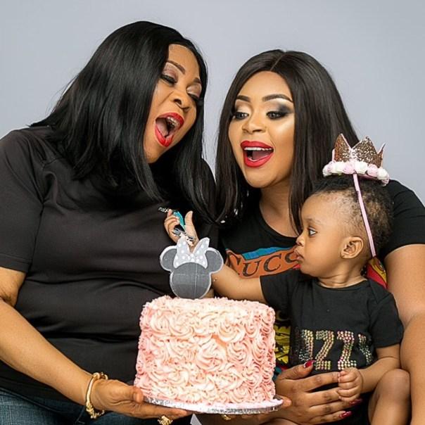 Mimi Orjiekwe Celebrates Daughter's 1st Birthday With Three Generations Family Photos (2)