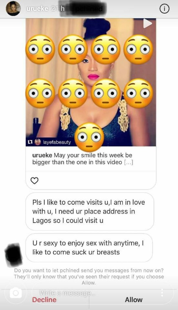 Uru Eke Exposes Man Who Asked If He Could Come Suck Her B**bs (2)