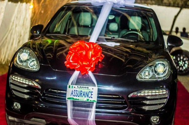 Davido Gifts Chioma N45million Porsche On Her Birthday