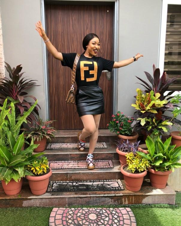 Tonto Dikeh Steps Out In N248K Fendi T-Shirt (3)