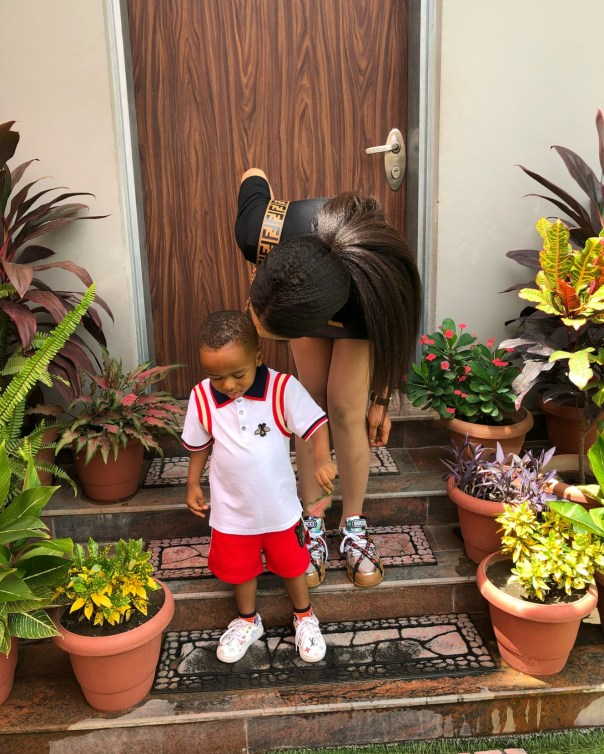 Tonto Dikeh With Her Son Andre Omodayo Churchill