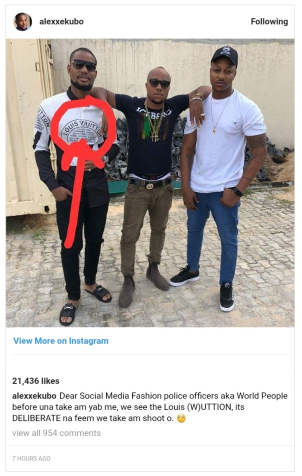 Alex Ekubo Explains Why He Is Rocking A Fake Louis Vuitton Shirt (2)