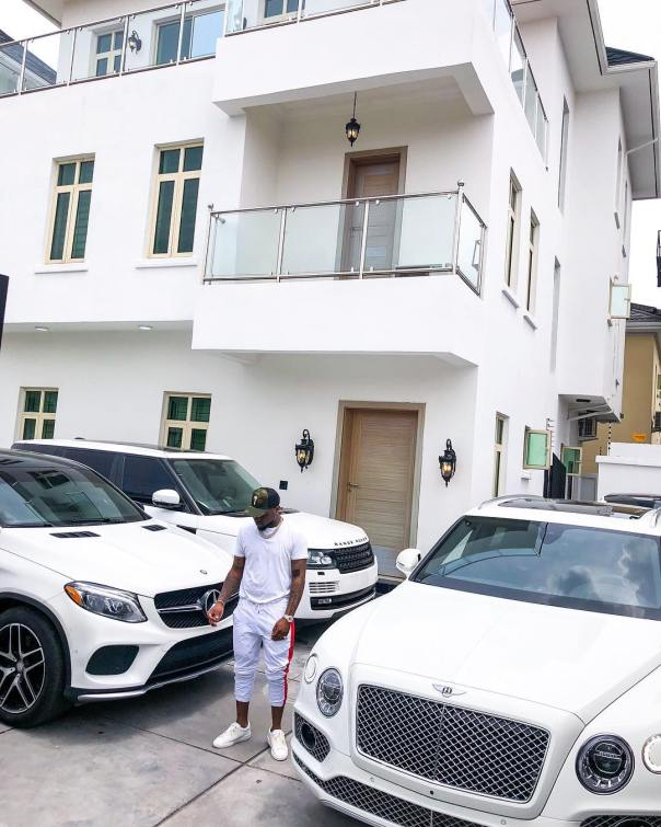 Davido Shows Off His All White Expensive Cars (2)