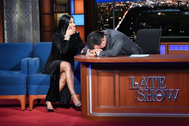 Nicki Minaj Gives Stephen Colbert His Very Own Barbie Dreams (2)