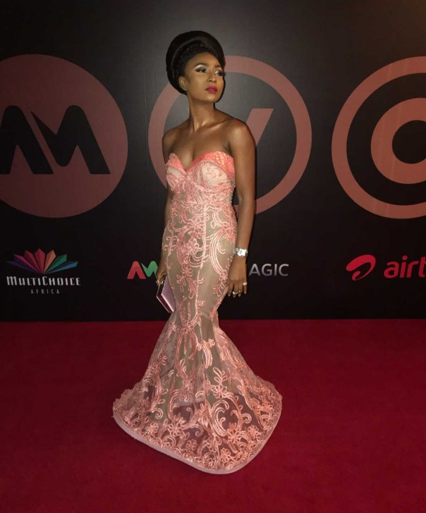 Belinda Effah Illusion Mermaid Dress AMVCA2018 (5)
