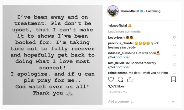 Tekno Explains Why He Can't Make It To The Shows Booked For (2)