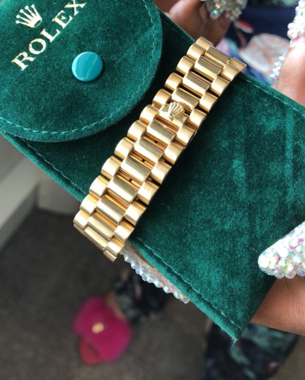 Bobrisky Gets A Rolex As Gift From His Bae (4)
