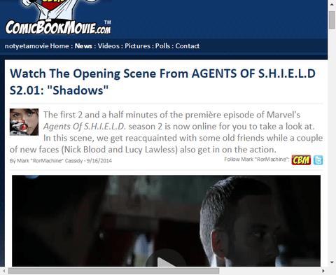 「エージェント・オブ・シールド」シーズン2の1話「シャドウ」のオープニングシーンが判明!