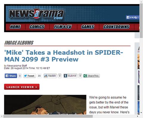 スパイダーマン 2099 #3のプレビュー!