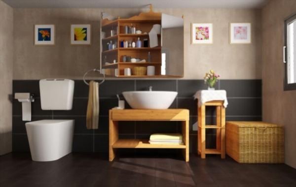 Cuarto de baño y mueble de baño limpio