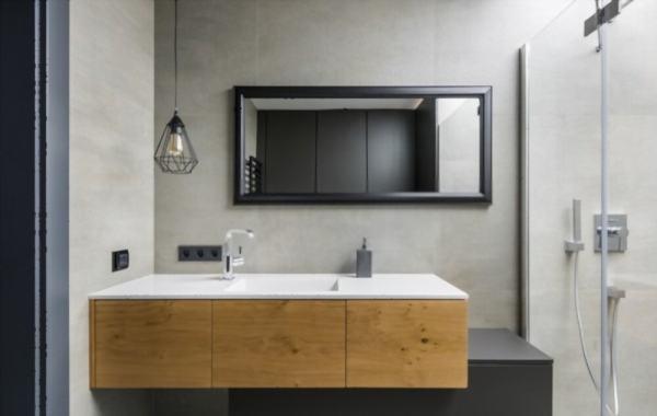 mueble moderno acabado frente de madera