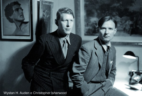 NPG x540; W.H. Auden; Christopher Isherwood by Howard Coster