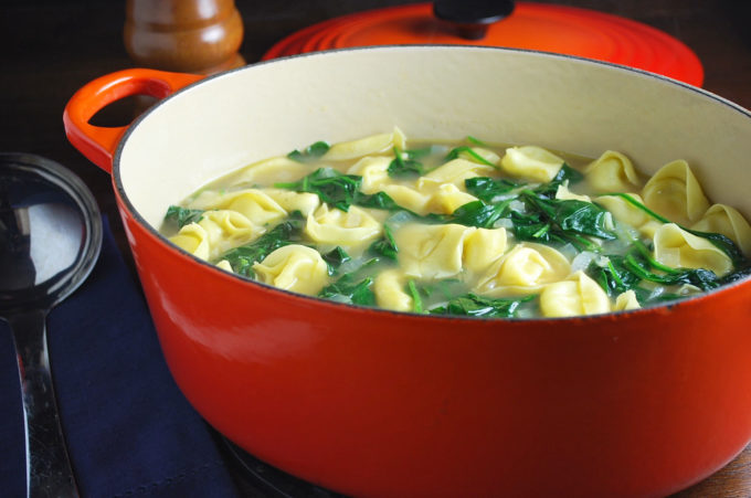 This Easy Chicken Tortellini Soup makes a quick and healthy family meal!