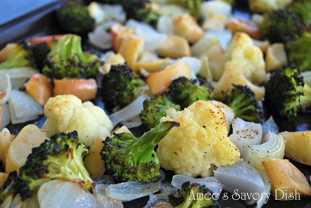 Roasted veggies with apple