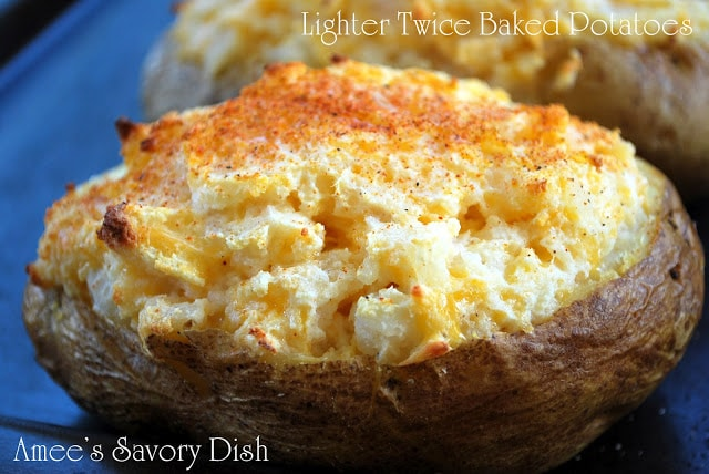 Lighter twice baked potatoes