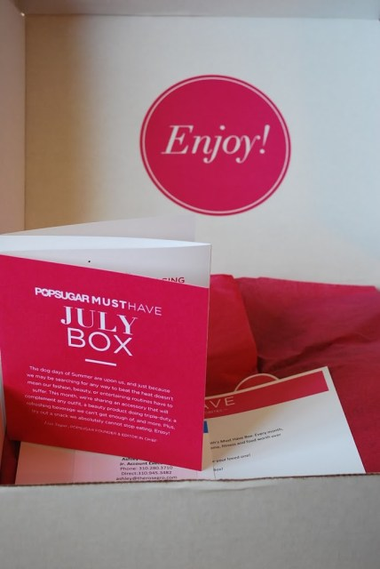 Popsugar MUST HAVE Subscription Box - July 2013