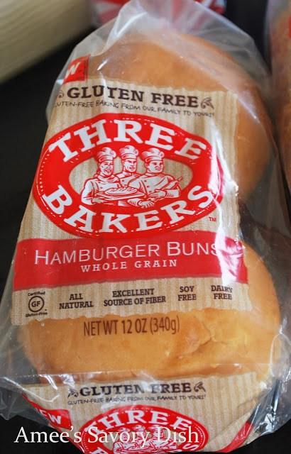 Three Bakers gluten-free hamburger buns