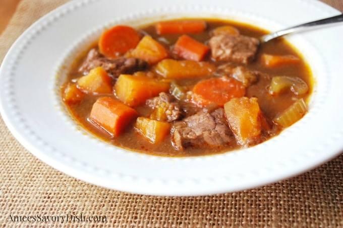 Sweet Potato Beef Stew recipe