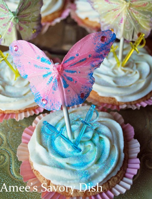 """Pirate Fairy Cupcakes are whimsical themed cupcakes, inspired by the Disney Movie, """"The Pirate Fairy"""""""