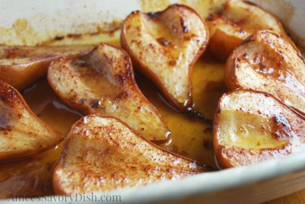 Fall Foods with Roasted Maple Pears in a Maple Syrup Sauce