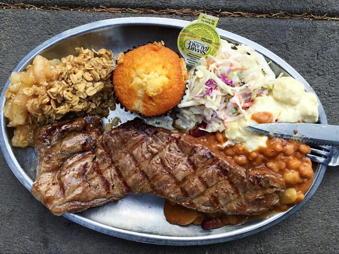 Yellowstone cowboy cookout plate