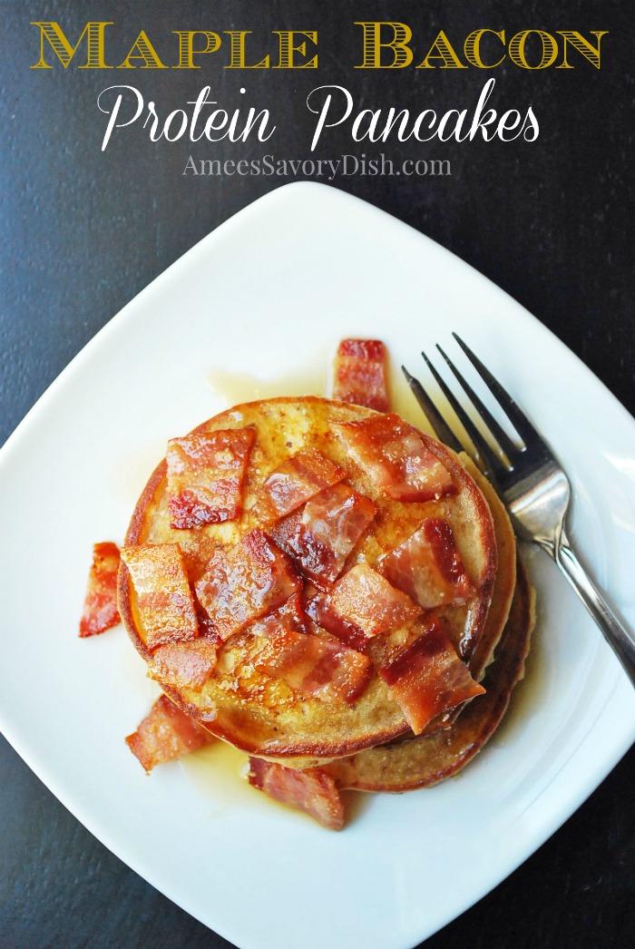 Maple Bacon Protein Pancakes Recipe