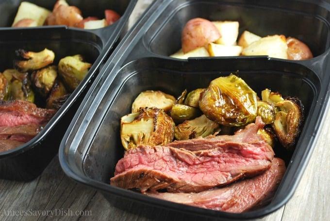 Best Flank Steak meal prep watermark