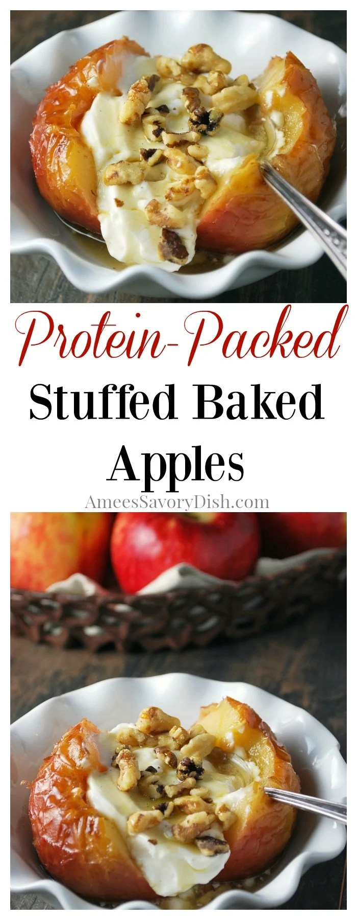 Protein Packed Stuffed Baked Apples recipe