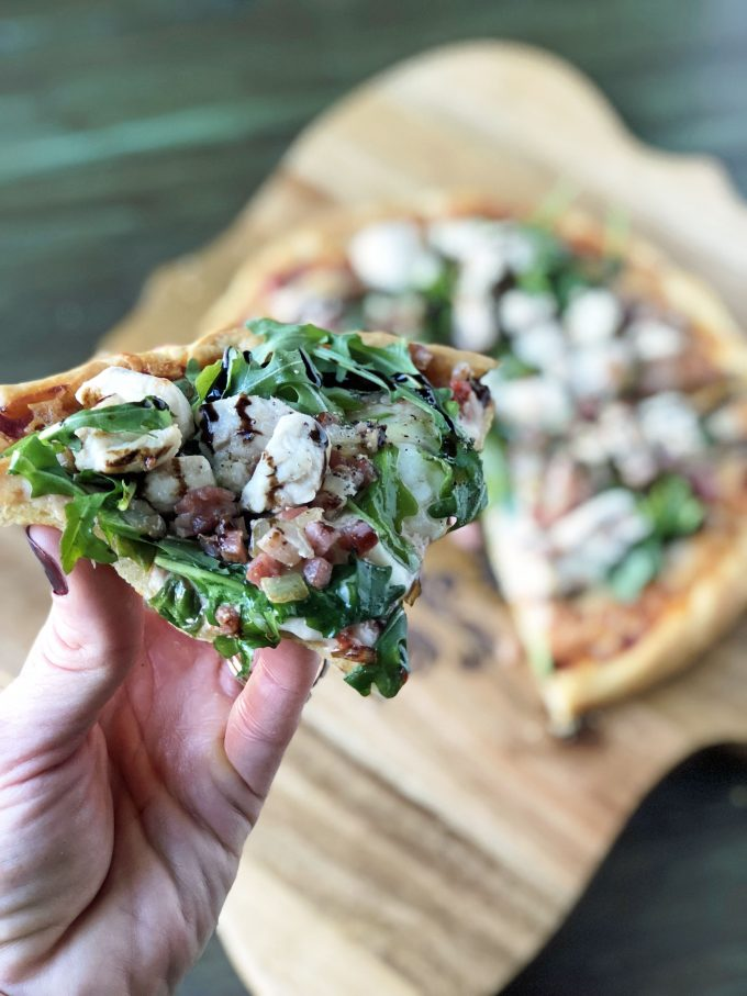 Table5 Balsamic Glazed Chicken Arugula Pizza slice