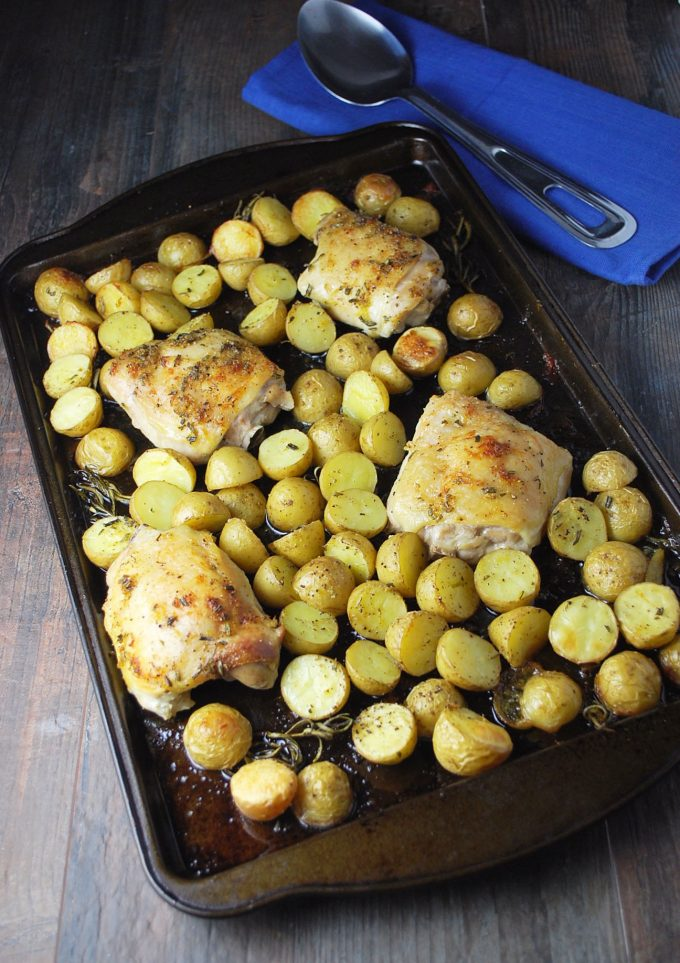 Delicious Sheet Pan Rosemary Roasted Chicken and Potatoes