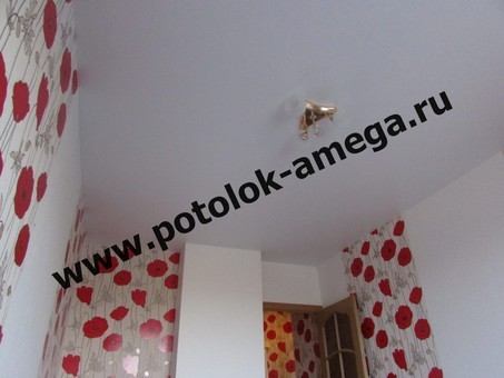Что делают сначала натяжной потолок или обои   Аmega