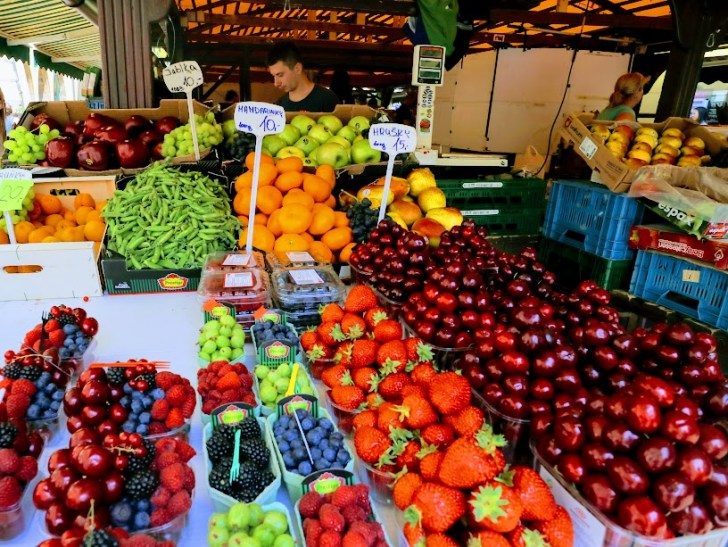 プラハの市場