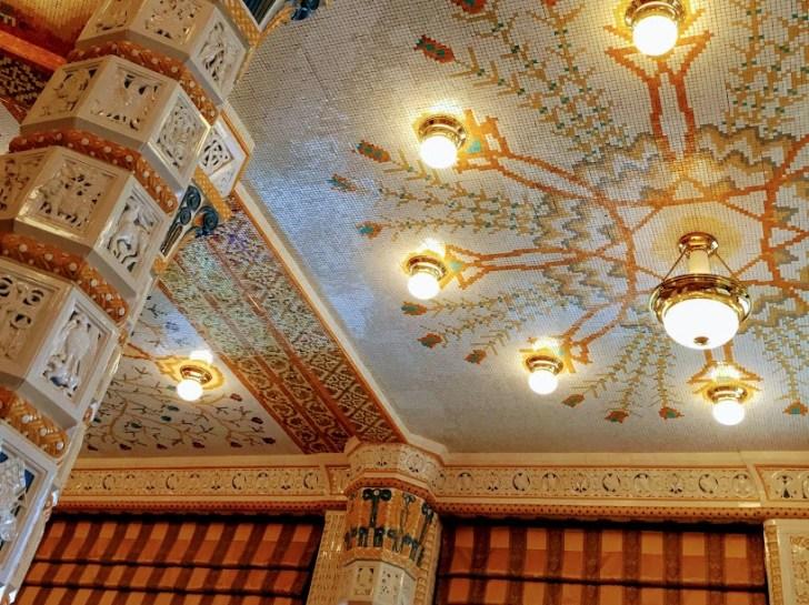 アールデコインペリアルの天井