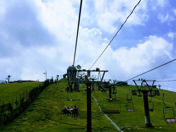 蓬莱山への第二リフト