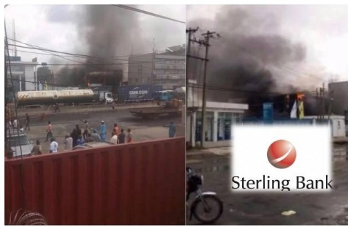 UPDATE ON FIRE INCIDENT AT STERLING BANK ON CREEK ROAD APAPA