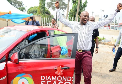 BUSINESSMAN WINS BRAND NEW CAR IN DIAMONDXTRA REWARD SCHEME.