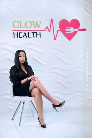 Pix 3: Chief Executive Officer and Founder, GLOW Health Enterprise, Adanna Monde at the GLOW Health office in Ikoyi, Lagos