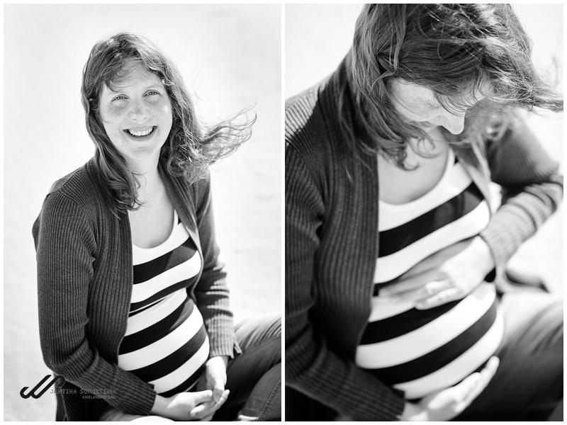 Zwangerschapsfotoshoot op het strand