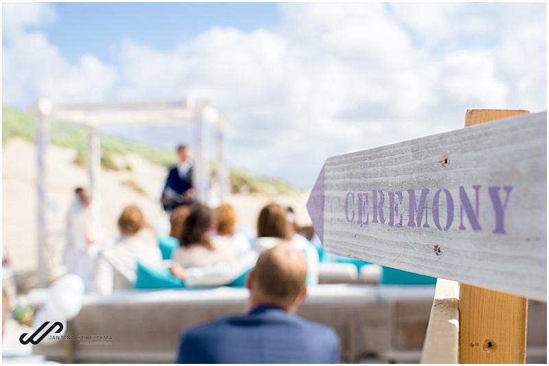 strandbruiloft ceremonie